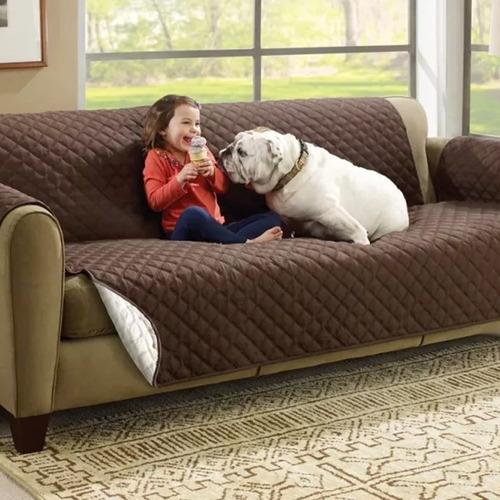 funda 2 cuerpos protectora reversible para sofa sillon