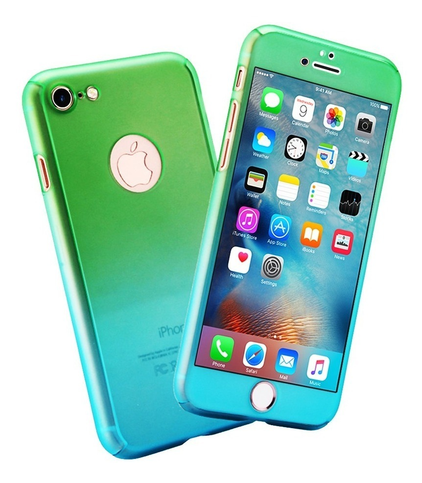 49f50be3936 Funda 360 Bicolor iPhone X 8 7 6 Plus 6s Se 5 + Mica - $ 169.00 en ...