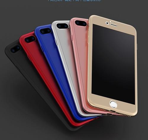 funda 360 completo vidrio glass iphone x 5 se 6s 6 7 8 plus