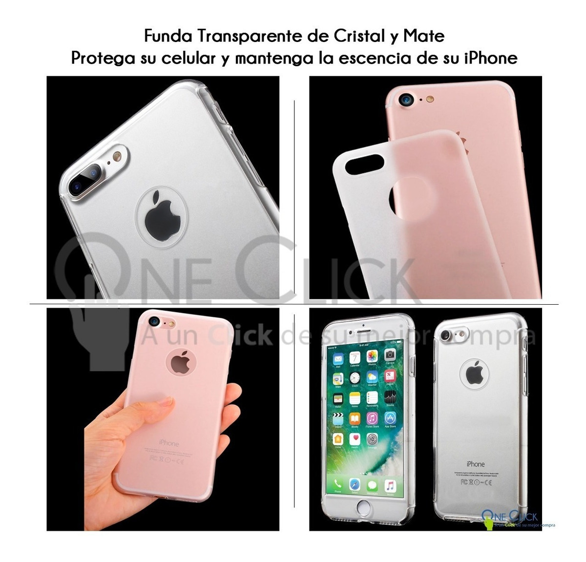 7f29d07e0e6 Funda 360 iPhone X 8 7 6 Plus 6s 5s Se + Cristal - $ 169.00 en ...