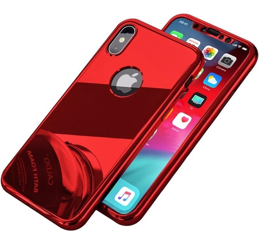 aeca82ed96c funda 360 lujo espejo iphone x 8 7 6 plus 6s se 5s 5 + mica. Cargando zoom.