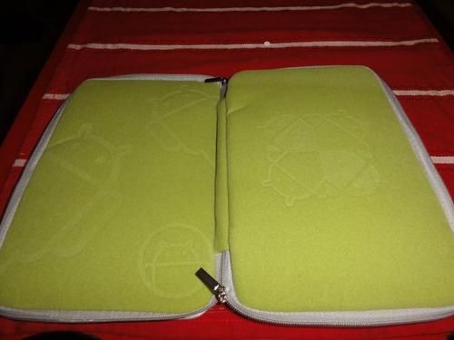 funda 7  android verde con gran detalle geek tablet green