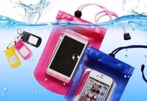 funda a prueba de agua protectora para teléfono + cordón