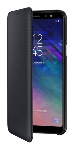 funda a6 plus original samsung galaxy wallet flip cover 2018