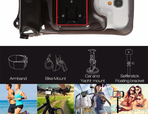 funda acuática dicapac action wp-c2a iphone 6 plus celulares