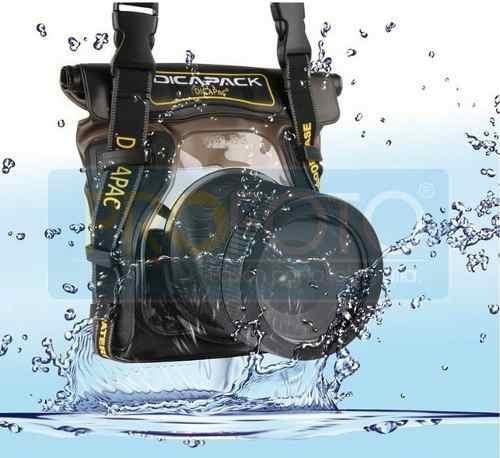 funda acuática wp-s5 para cámaras dslr sumergible dicapac