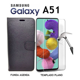 Funda Agenda + Templado Plano Samsung Galaxy A51 Rosario