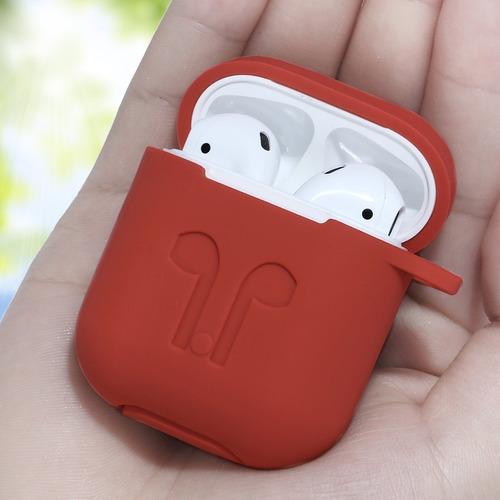 funda airpods premium suave + arnes + correa 7 colores.
