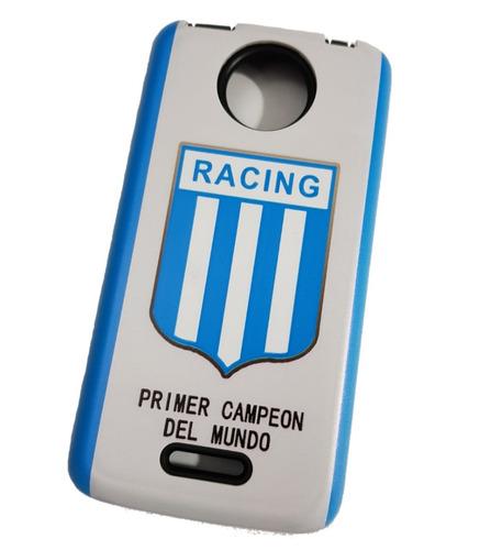 b64625c0a4a Funda Alto Impacto Fútbol Racing + Glass Moto C Plus - $ 230,00 en ...
