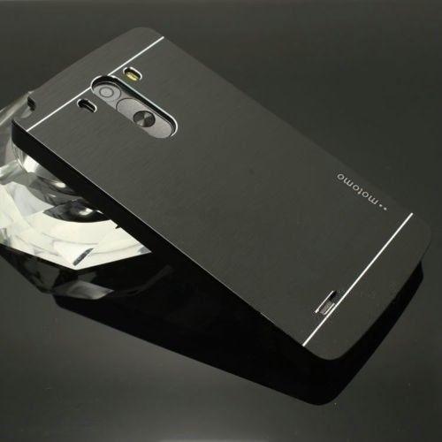 funda aluminio motomo lg g4 h815 v10 + vidrio templado glass
