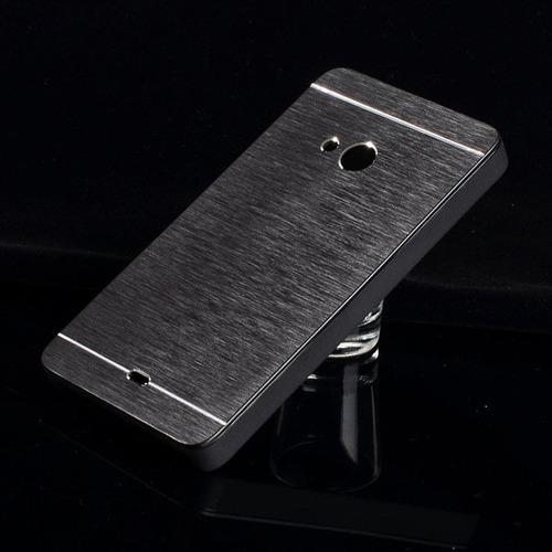 funda aluminio nokia microsoft 535 con vidrio templado glass
