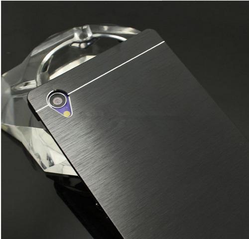 funda aluminio simil motomo sony z3 z3 compac + vidrio glass