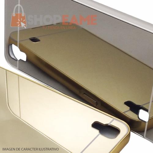 funda aluminio tipo espejo + cristal samsung a5 2017 a520