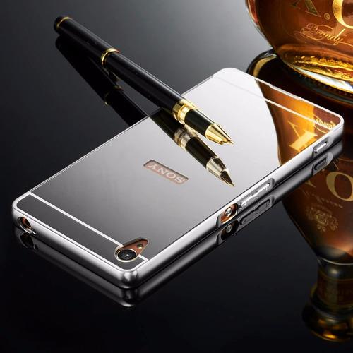 funda aluminio xperia x xa z5 z4 z3 m5 m4 xz compact premium