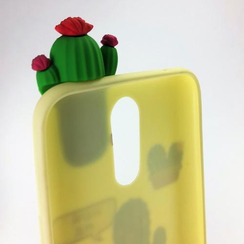 funda antigolpe cactus unicornio lg k 4 8 10 2017 microcentr