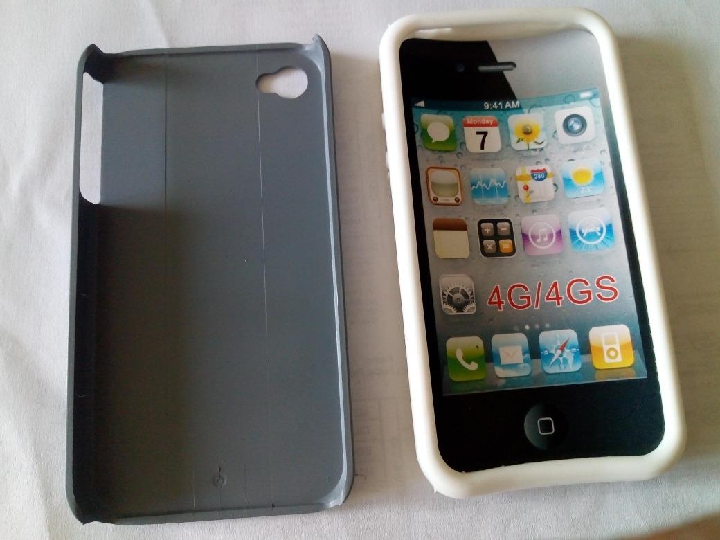 081857da804 funda antishock acrilico + silicona iphone 4, 4s gris/blanco ...
