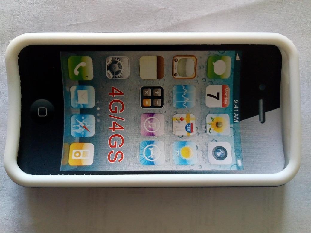 428aaaa4870 funda antishock acrilico + silicona iphone 4, 4s gris/blanco. 7 Fotos