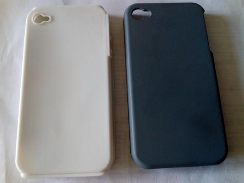 1aea1f84710 ... funda antishock acrilico + silicona iphone 4, 4s gris/blanco