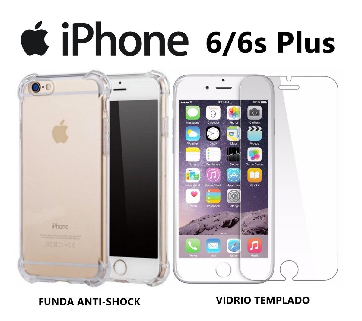10761ae79ee funda antishock + vidrio templado iphone 6 6s plus rosario. Cargando zoom.