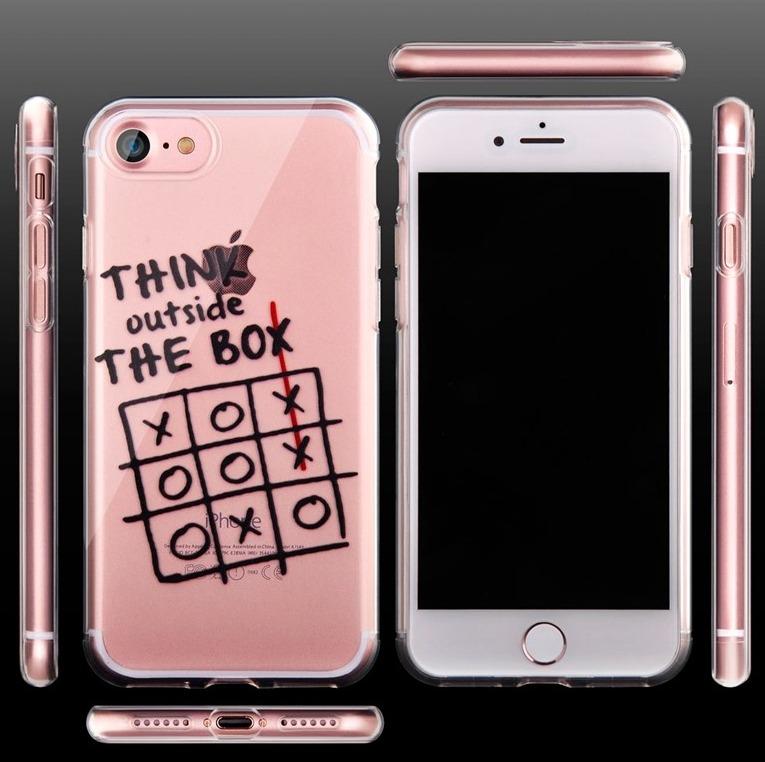 136539fa599 Funda Apple iPhone 7 Plus Transparente + Cristal Templado - $ 185.00 ...