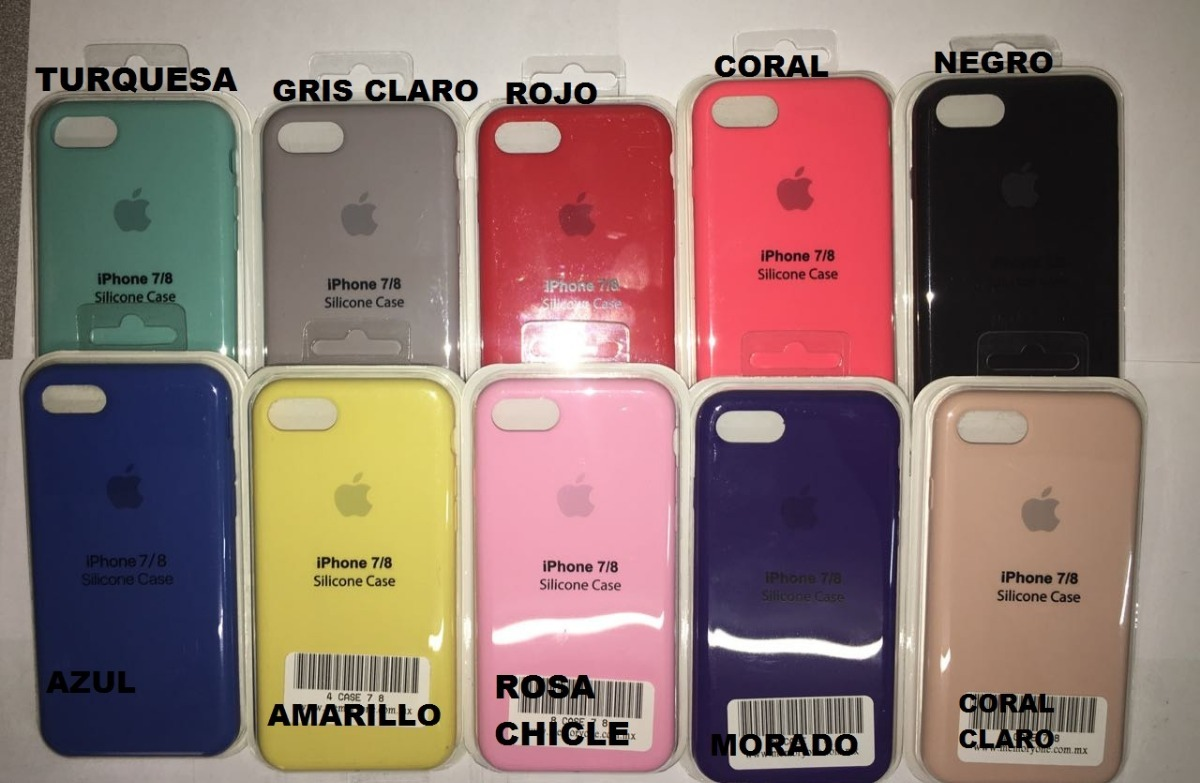 Funda Apple Iphone 8 Plus Iphone 7 Plus Colores Goma Case MemoryOne