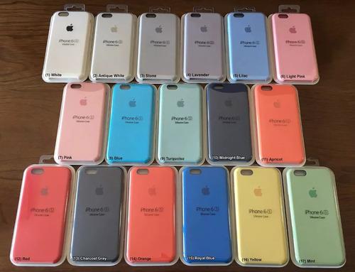 funda apple silicone case iphone 6 6s 6plus 7 7plus original