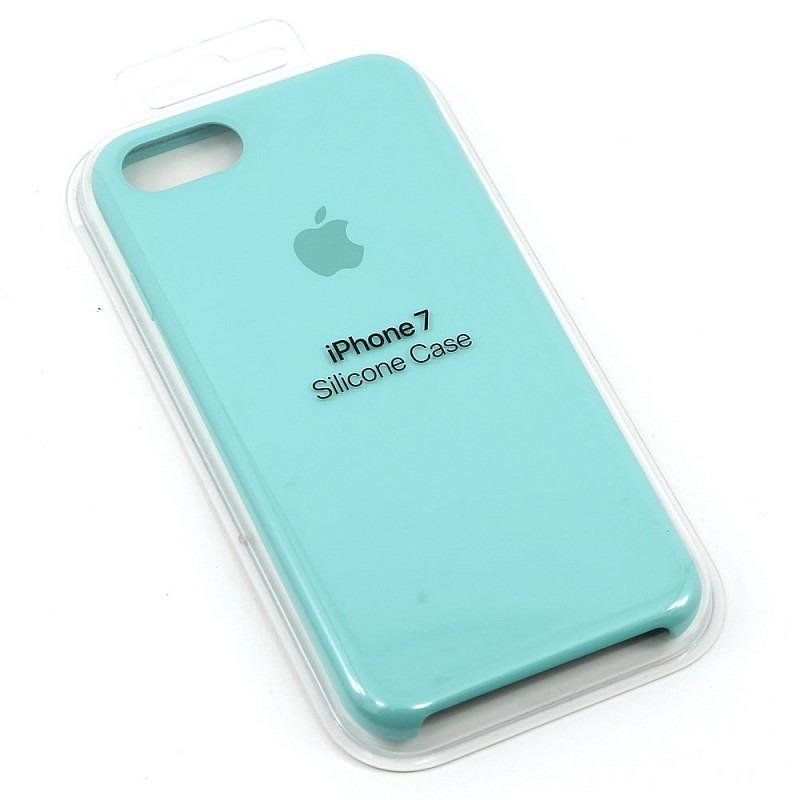 san francisco 618d5 287f5 Funda Apple Silicone Case Original iPhone 7 Sea Blue