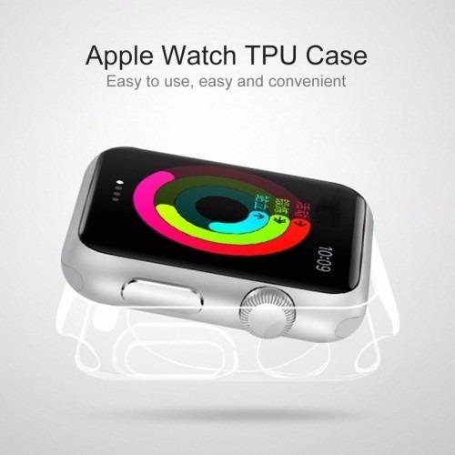 funda apple watch tpu transparente 42 mm