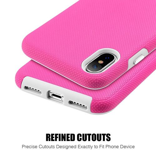 47a1e488327 Funda Ara iPhone Xr Doble Protector De Uso Rudo Ezpress Rosa ...