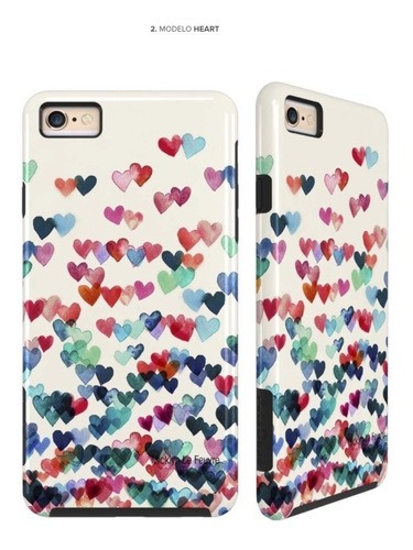 funda arts case design para iphone 6s & 6 + vidrio de regalo