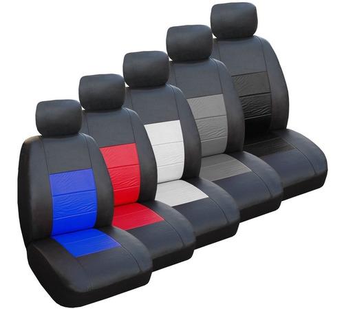 funda asiento simil cuero acolchado fitter + envio gratis