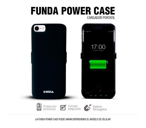 funda bateria cargador case iphone 5 5s se 2200mah power