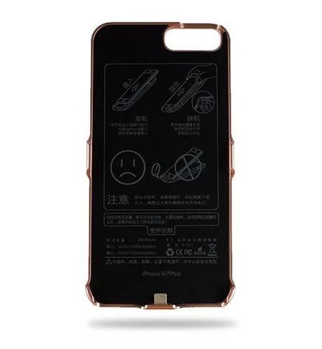 funda bateria iphone 6 plus 7 plus 8 plus cargadora