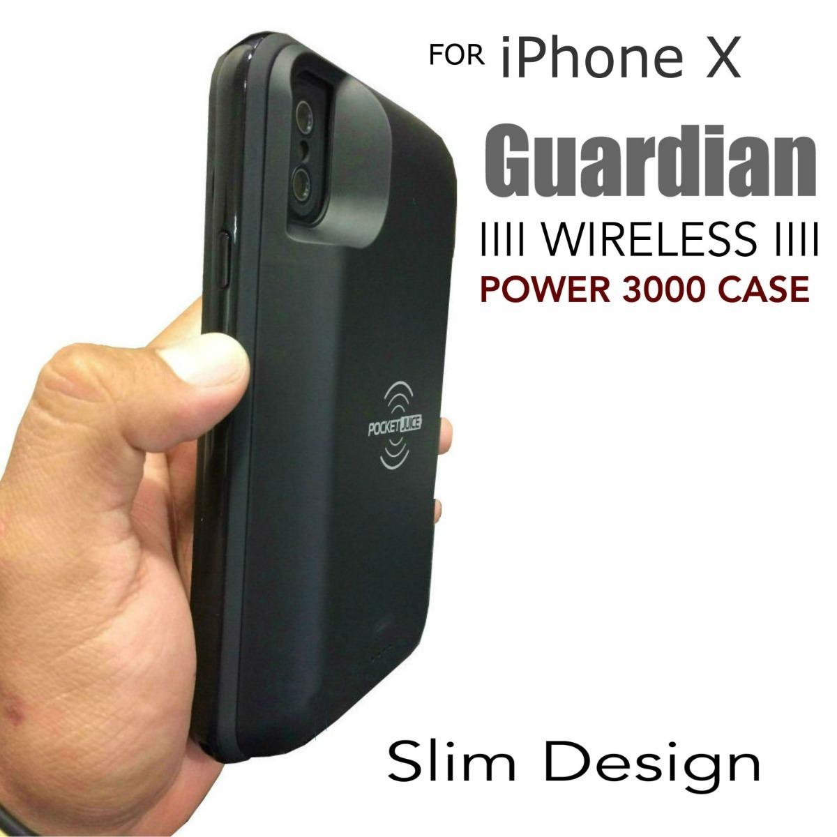 huge discount b0248 a57f3 Funda + Bateria iPhone X Guardian Wireless Power 3000 Case