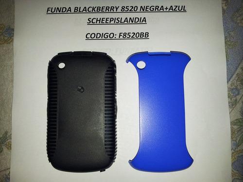 funda blackberry 8520 negra+azul f8520bb