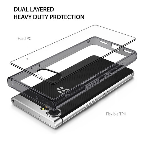 funda blackberry keyone ringke fusion anti impacto