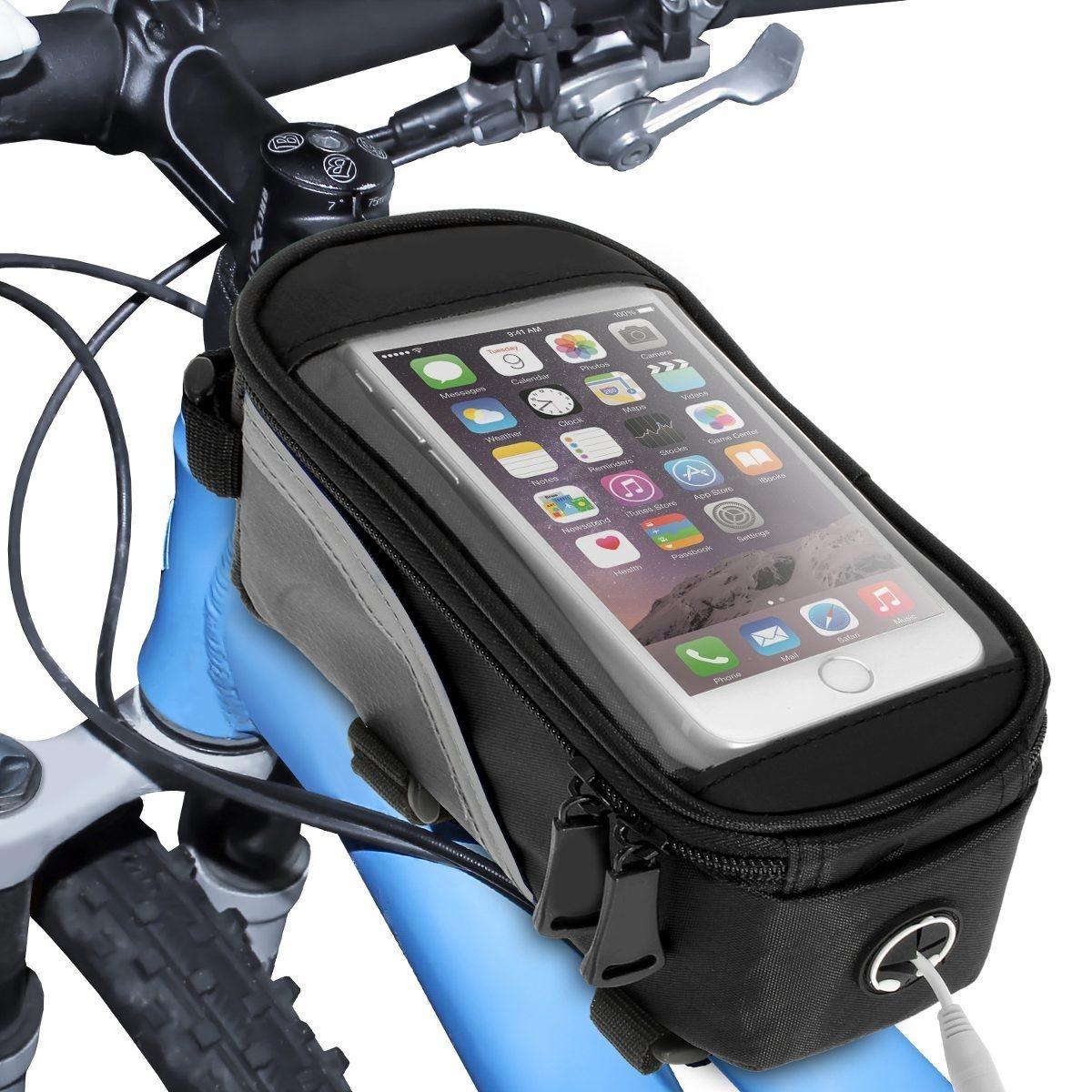 a136f52c73d Funda Bolso Porta Celular/gps Para Bicicleta Impermeable - $ 398,00 ...