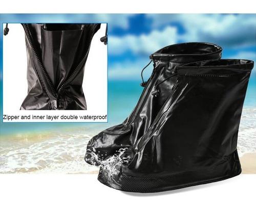 funda bota impermeable protector zapato lluvia antideslizan