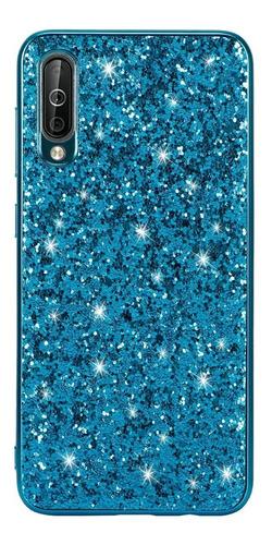 funda brillo glitter bling samsung m20 a30 a50 con vidrio t