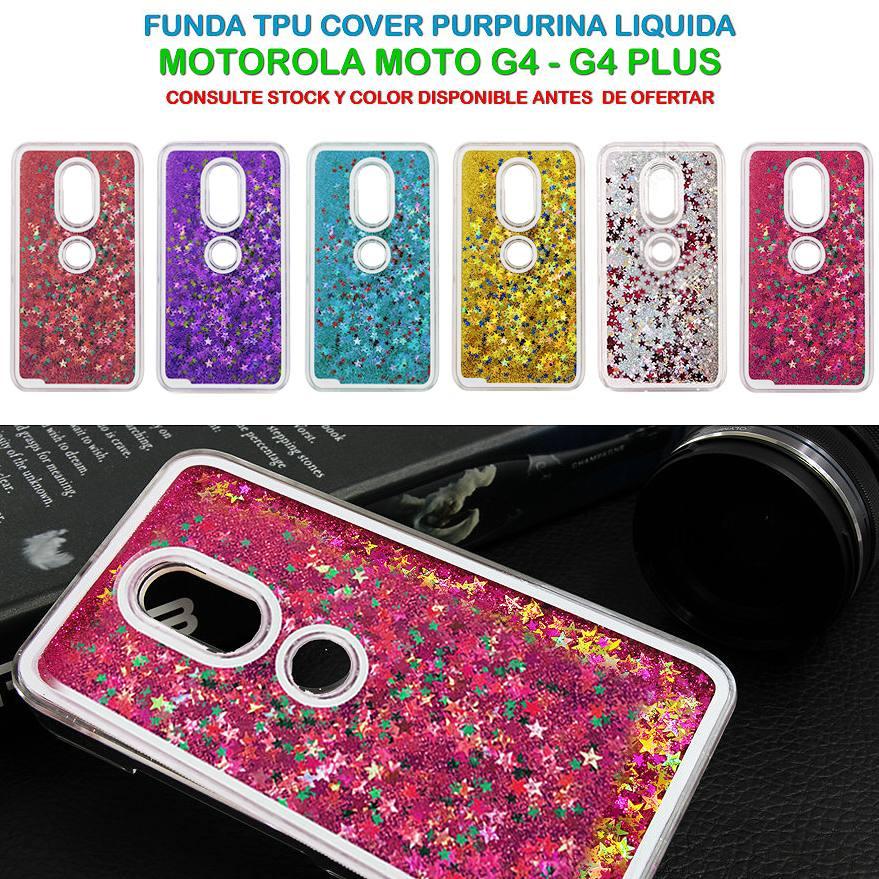 0614c404ab9 Funda Brillos Agua Motorola Moto G4 G4 Plus Play Colores - $ 129,90 ...