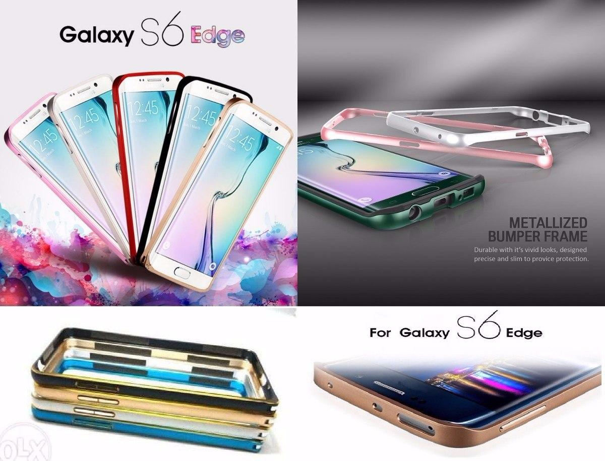 332b781d17f Funda Bumper Aluminio Con Botones Samsung S6 Edge Envios - $ 149,97 ...