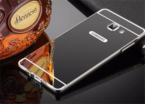 funda bumper aluminio espejo + cristal samsung a7 2016 a710