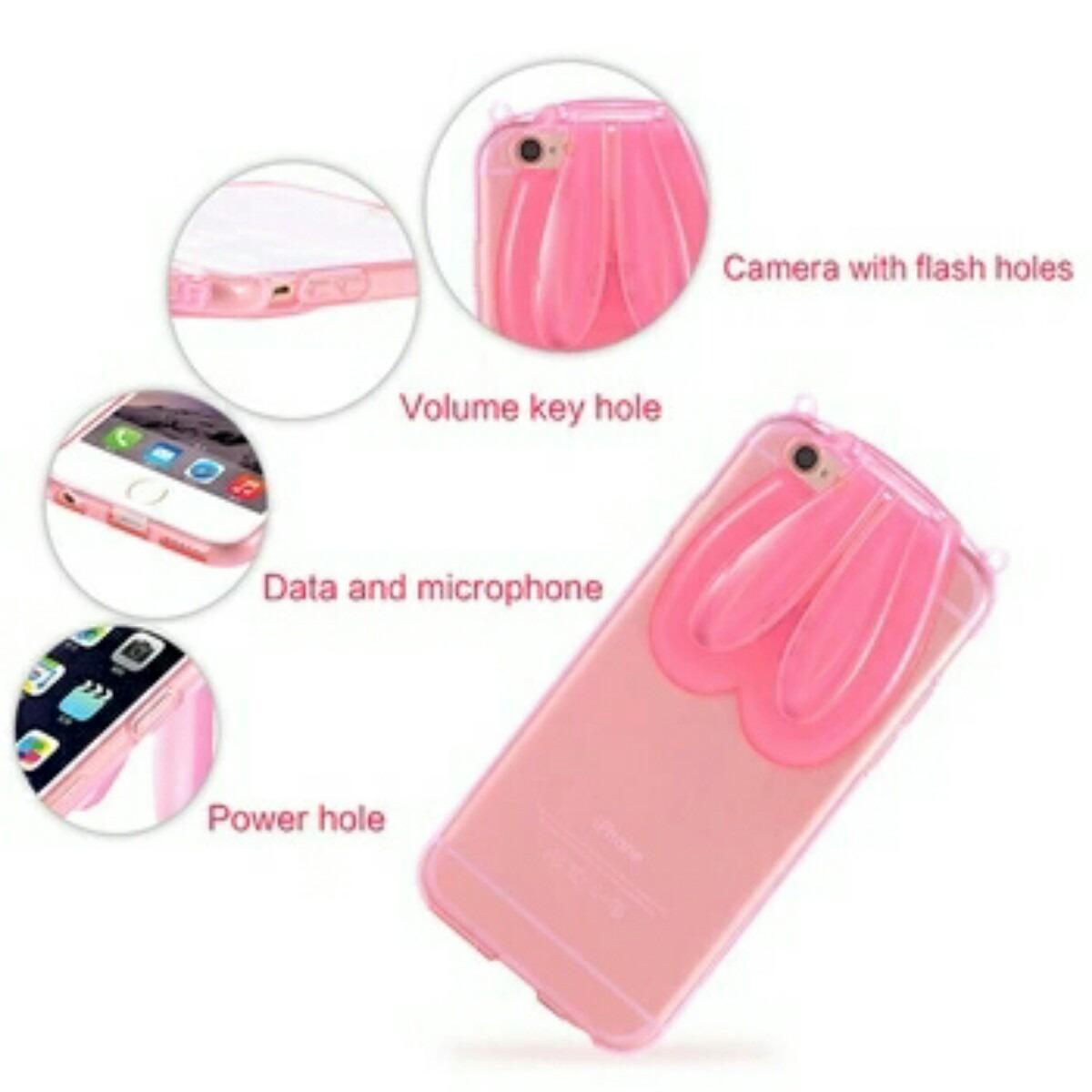 f12d94e51b3 Funda Bumper Conejo Orejas iPhone 6 Plus Colores 5.5 - $ 60.00 en ...