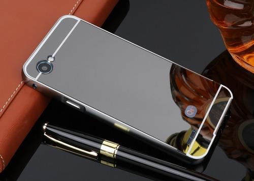 funda bumper lg q6+ q6 prime m700h aluminio espejo