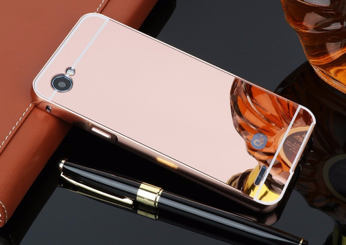 funda bumper lg q6+ q6 prime q6 alpha aluminio espejo