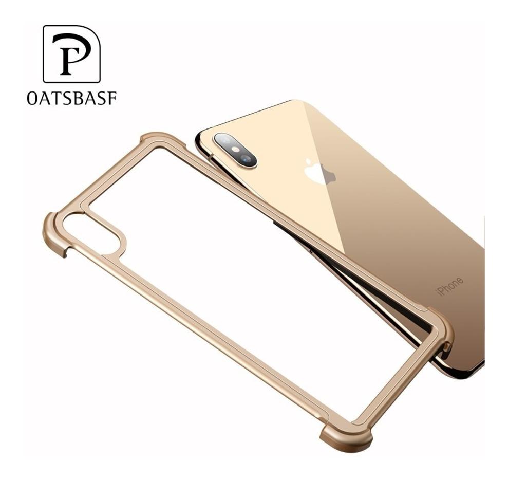 pretty nice 181a3 9d499 Funda Bumper Lujo Aluminio iPhone Xs Max Oatsbasf Magnetic