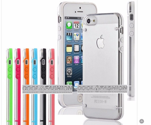 funda bumper luminosa iphone 5 6 7 s brilla en la oscuridad