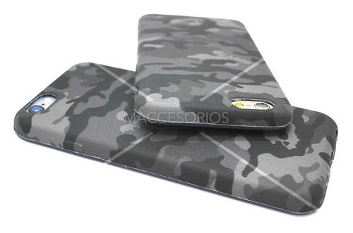 funda camuflada militar verde flexible para iphone 6 & 6s
