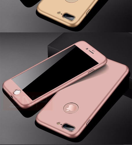 funda carcasa 360  iphone 6 6plus 7 y 7 plus incluye vidrio