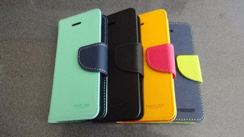 funda carcasa premium tipo billetera iphone 5, 5s, 5g